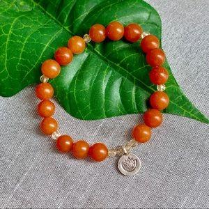 Jewelry - Natural Stone Lotus Stretch Bracelet